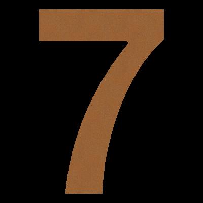 Numer na dom, elewację 7...