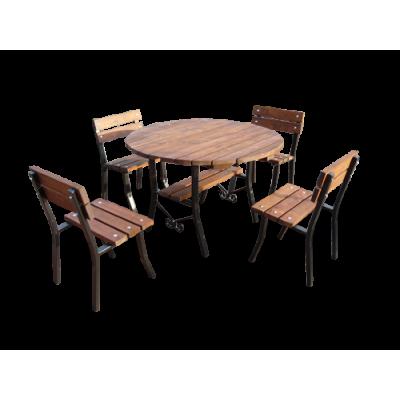 Stół ogrodowy i 2 ławki 18 MSV