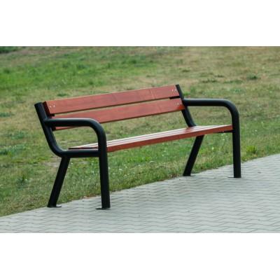 ławka parkowa stalowa