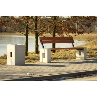 kosz parkowy betonowy