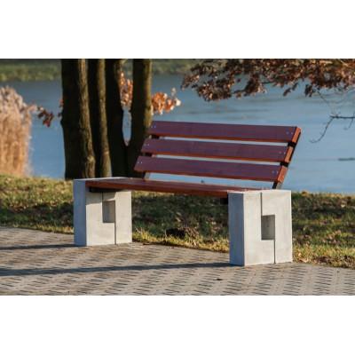 nowoczesna ławka z betonu