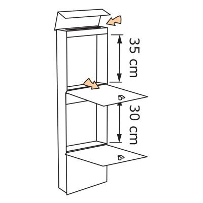 Nierdzewna skrzynka pocztowa – rzut 1