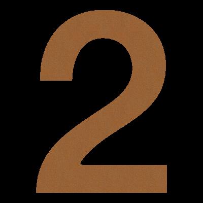 Numer na dom 2 na elewację...