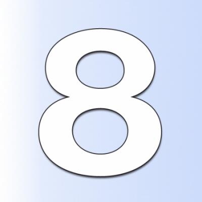Numer na dom, elewację 8...