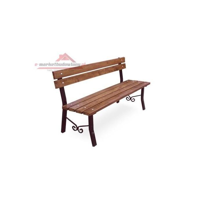 ławka ogrodowa stalowa