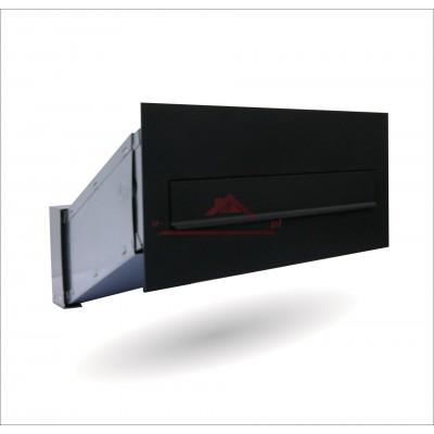 skrzynka na listy w mur czarna