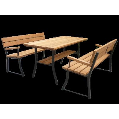 Stół do ogrodu i 2 ławki z...