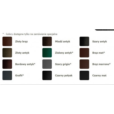 skrzynka na listy z tubą - kolory