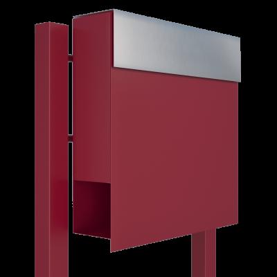 Ogrodowa skrzynka na listy – czerwona