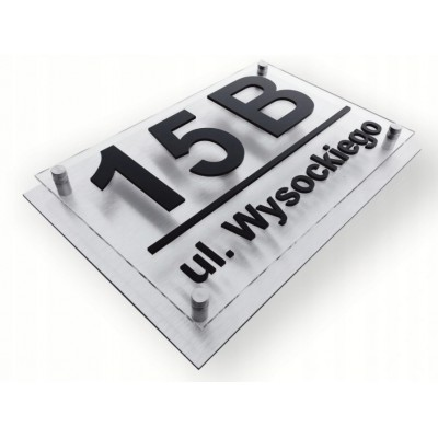 Tabliczka z numerem domu 3D...