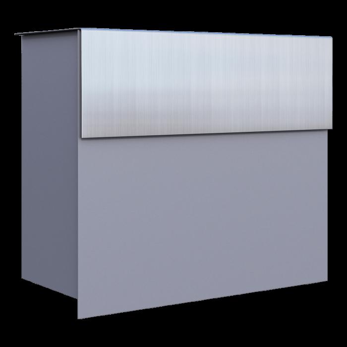 Stojąca skrzynka na listy BRAVIOS – srebrna