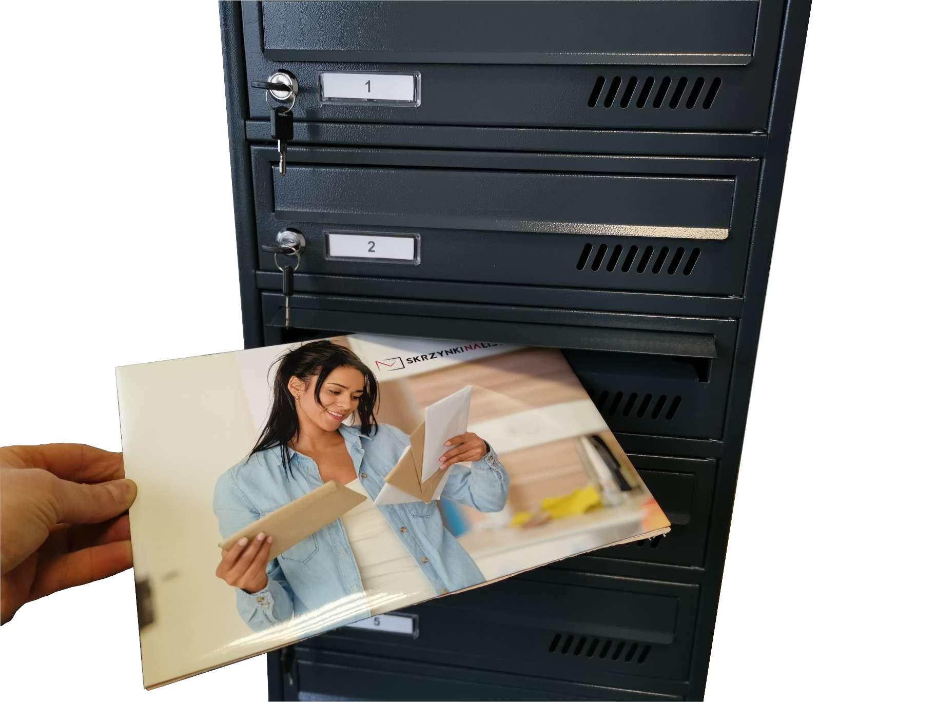 Modułowa skrzynka pocztowa antracyt